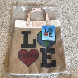 "NWT, Brighton ""Love the Earth"" Jute Tote Bag!"